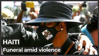 Slain Haitian president's hometown holds funeral amid violence