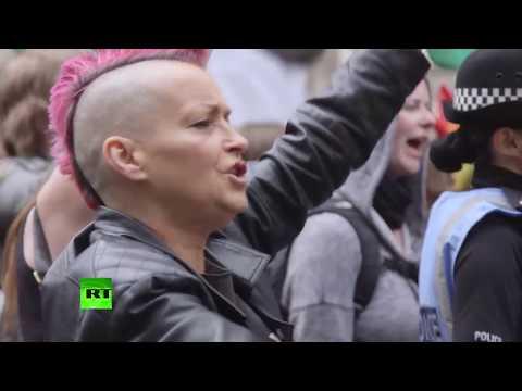 Far-right anti-Islam rally met with huge counter-demo in Edinburgh