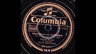 Mein Mann ist verhindert / Marlene Dietrich mit Jimmy Carroll & Orchester