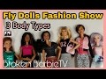 FLY DOLLS |Barbie Fashion Pack Review & Fashion Show 3 Barbie Body Types/New Barbie Series