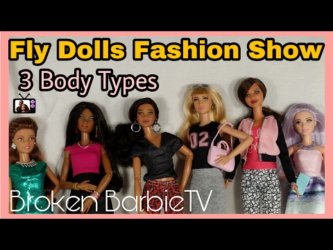 fly-dolls-|barbie-fashion-pack-review-&-fashion-show-3-barbie-body-types/new-barbie-series