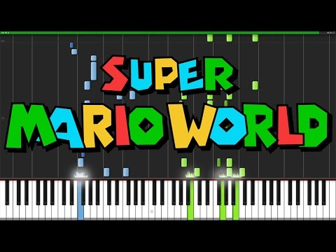 Super Mario World Medley - Super Mario World [Piano Tutorial] (Synthesia)