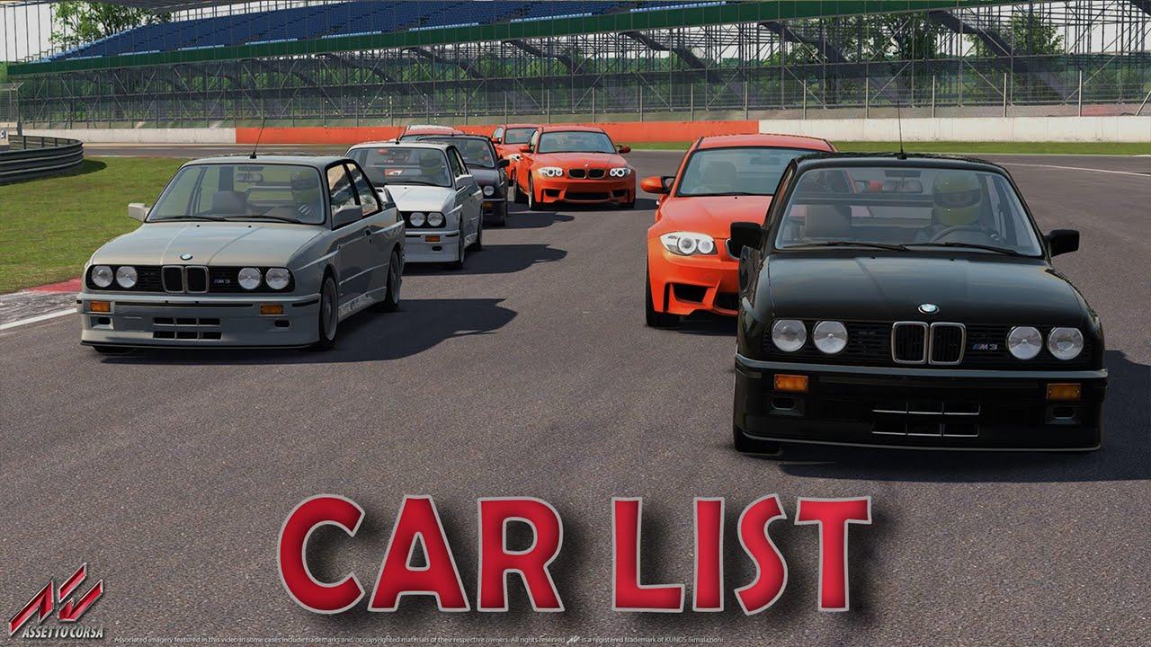 Assetto Corsa - Car list [HD]