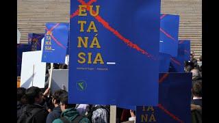 Manifestação contra a legalização da eutanásia