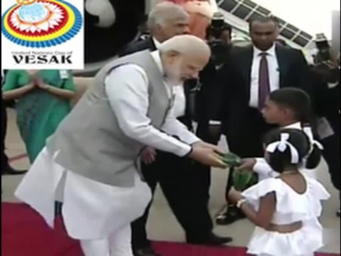 Indian PM Narendra Modi arrives in Sri Lanka