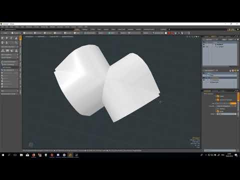 modo symmetrize meshop + edit base mesh