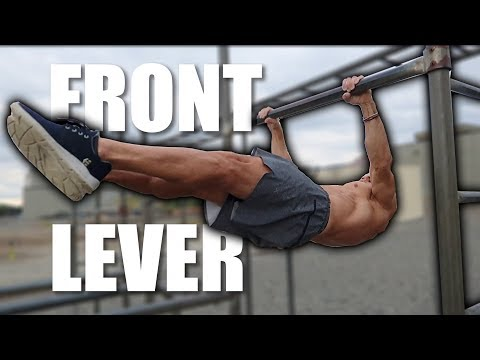 FRONT LEVER PROGRESSIONS for beginners