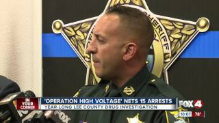 16 arrested made in year long drug bust in Fort Myers