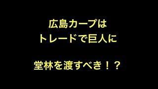 広島さんはトレードで巨人に堂林を渡すべき!? 1 中 陽 2 二 マギー 3 ...