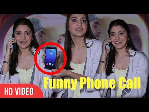 Anushka Sharma Answers Funny Phone Call | On Live Interview | Very Funny