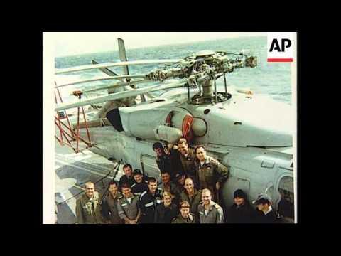 AUSTRALIA: RESCUED YACHTSMAN TONY BULLIMORE ON HMS ADELAIDE