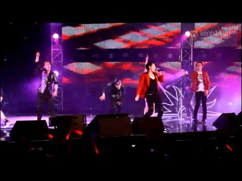 [1080p] 20131024 JYJ performing 'Empty' for IAG Roadshow in Vietnam