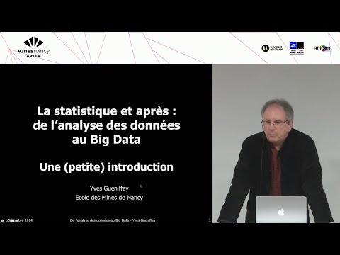 Analyse de données, Data Mining et Big Data
