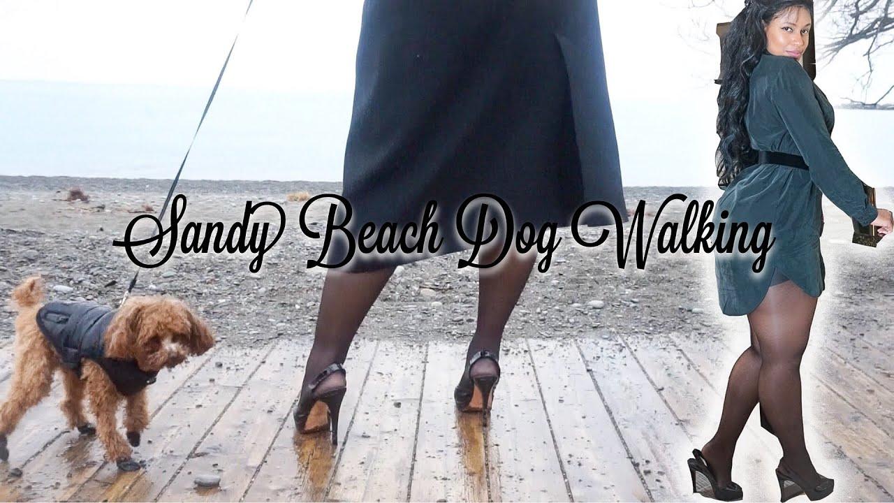 BLACK PATENT SLINGBACK HIGH HEELS - DOG WALKING | MyLadyMarie