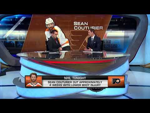 NHL Tonight:  Couturier`s injury:  How Sean Couturier`s injury will affect the Flyers  Aug 22,  2018