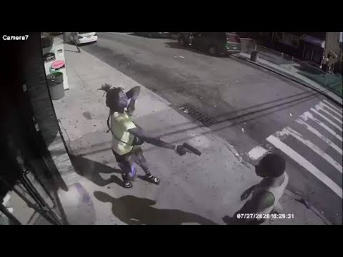 New York City's Deadly Gang War🌀🔴🔵💫 (Surveillance Footage)