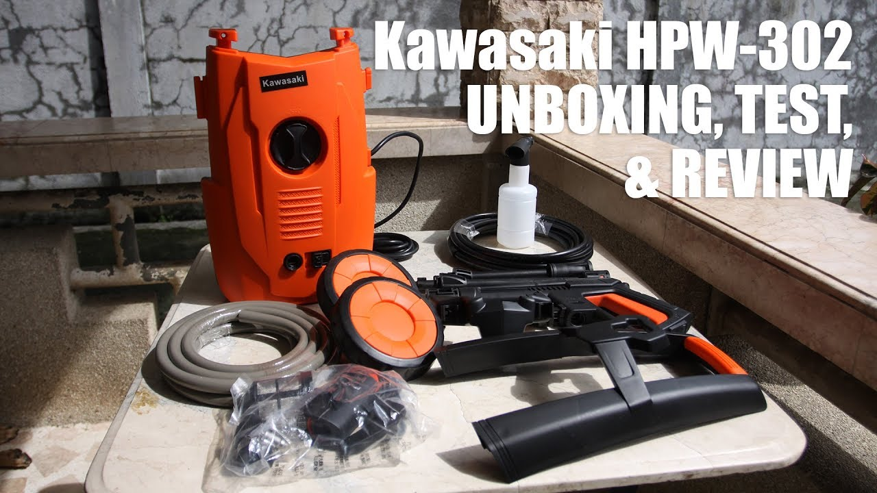 Kawasaki Hpw 302 Pressure Washer Unboxing Test And Review