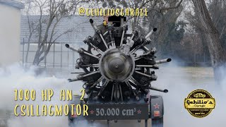 BRUTÁLIS HANG, An-2-es CSILLAGMOTORT INDÍTOTTUNK / Russian radial engine cold start.