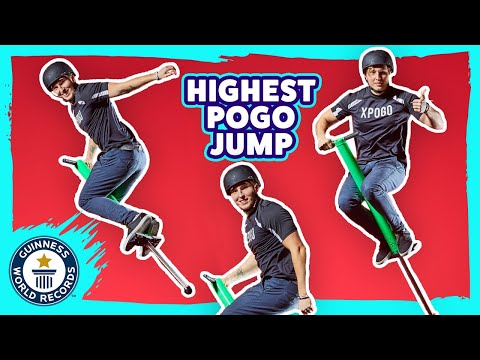 Highest Jump on a pogo stick - Guinness World Records Italian Show