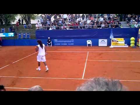 Dustin  Brown vs Stan Wawrinka Tennis in München 2011.. Ein irres Match