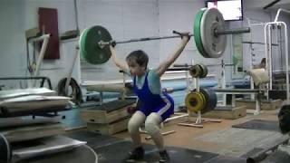 Маклаков Тимур, 13 лет, вк 50 Рывок 50 кг на 2 раза
