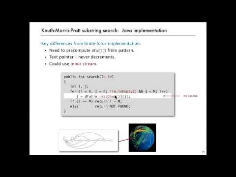 Substring Search   Knuth Morris Pratt 33 14