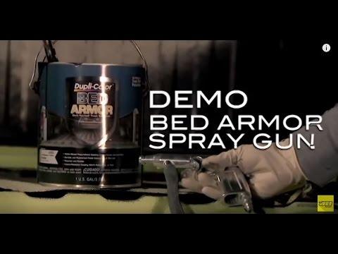 duplicolor bed armor truck bed liner spray gun tutorial demo