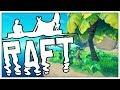 LOST AT SEA - MINECRAFT MEETS ARK - RAFT SURVIVAL