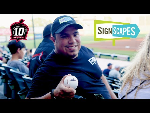 Anthony Mijares Throws the First Pitch at the Richmond Flying Squirrels Baseball Game | SignScapes