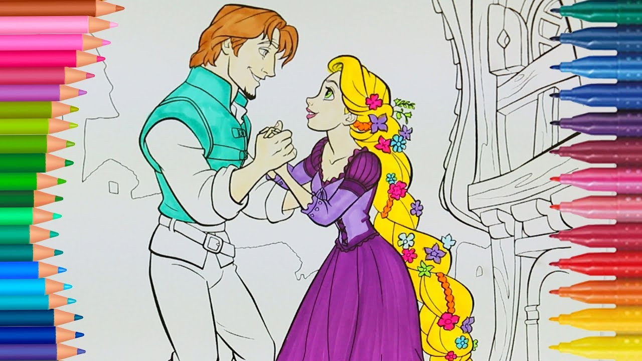 Disney Rapunzel Para Colorear Para Para Para Para Barbie: Disney Princesa Rapunzel Tangled Páginas Para Colorear