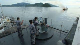 Detik-detik TNI AL Tembak Kapal Pencuri Ikan Milik China
