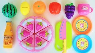 Toy Cutting Velcro Fruits Strawberry Cream Cake cooking slicing toy food