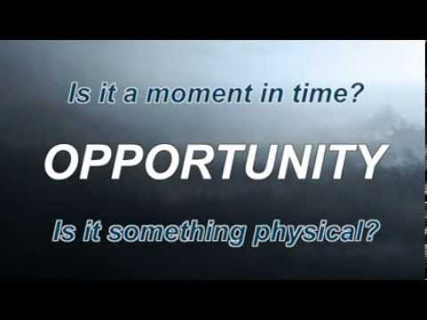"""The Definition of Opportunity"""