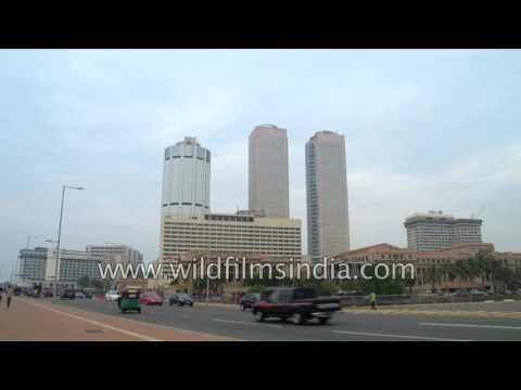 High rise buildings in Galle face green   Colombo