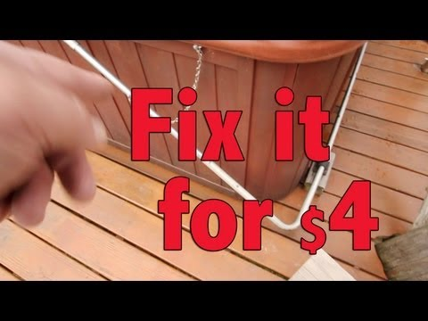 How to Repair Spa Hot Tub cover lifter Fix Spa lid lifter for 4 bucks