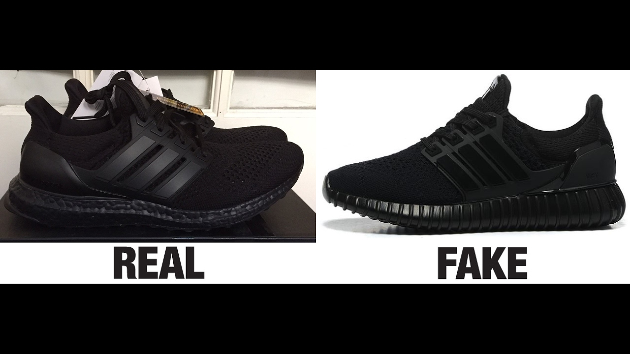 4a0a6d20d90 How To Spot Fake Adidas Ultra Boost Trainers Authentic vs Replica Comparison