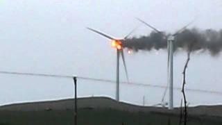 Windfarm turbine fire Ardrossan 08/12/11