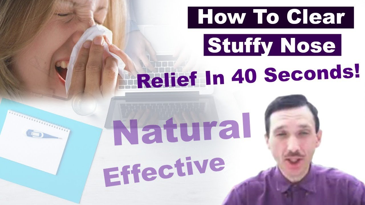 stuffy nose remedy get