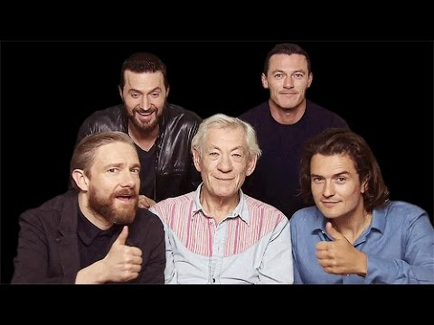 The hobbit cast in real life... - YouTube
