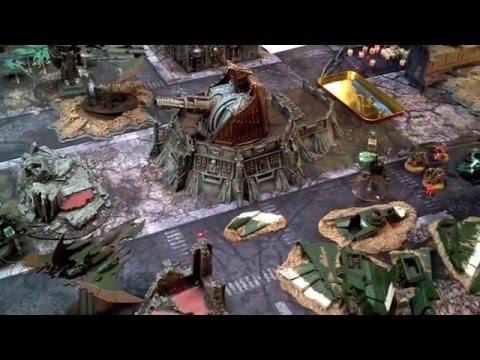 Warhammer 40k Deamons vs Dark Eldar Battle Report and Tactics