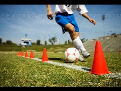 Soccer Training Video - Dribbling Cone Drill - YouTube