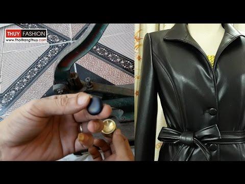 Cách làm cúc bọc vải áo khoác nữ thu đông | Thời Trang Thủy | Make fabric button