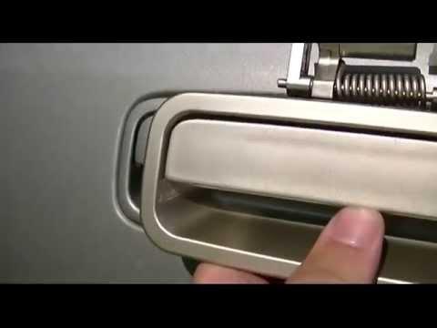 How To Install Replace Broken Rear Outside Door Handle ...