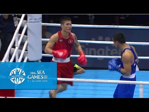 Boxing (Day 5) Men's Middle Weight (75kg) Finals Bout 74 | 28th SEA Games Singapore 2015