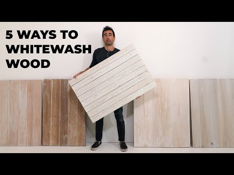 5 DIY White Wash Finishes for Wood