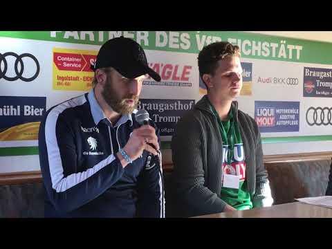 Pressekonferenz nach dem Sieg gegen VfB Eichstätt vs. TSV 1860 München