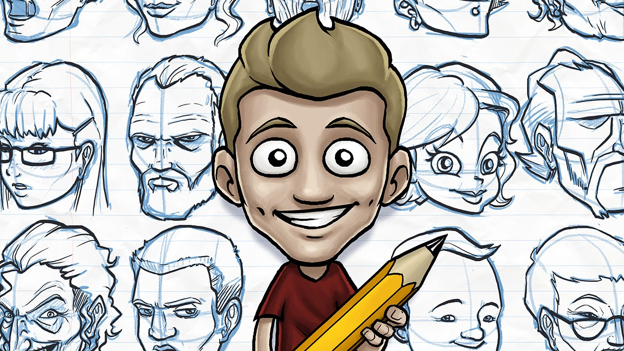Character Design Process Drawing : Draw with jazza fun faces youtube