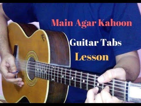 Main agar kahoon guitar tabs lead lesson cover   Om Shanti Om