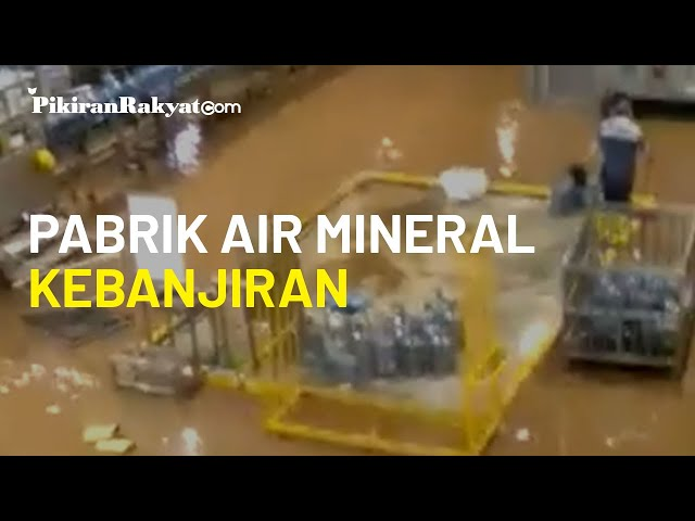 Operasi Dihentikan, Pabrik Air Mineral di Sukabumi Ikut Terendam Banjir