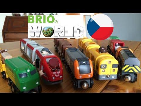 【vláček】 5 různých Vláčky má mašinky Brio (01992 z cz)
